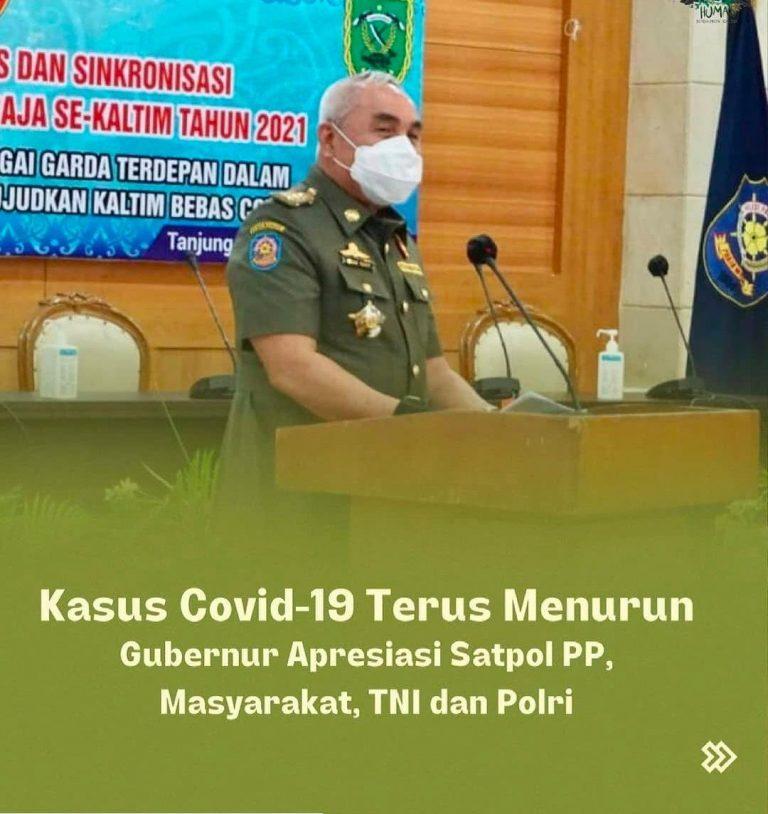 Gubernur Kaltim Senang Karna kasus Konfirmasi Positif Covid-19 terus menurun