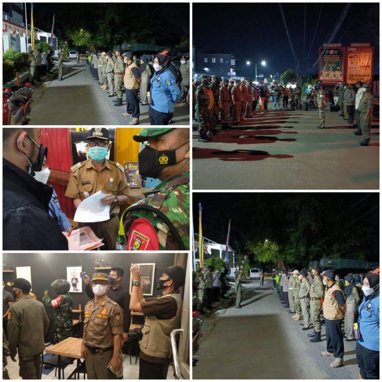 Satpol PP Prov.Kaltim Patroli Malam Bersama Satpol PP Kota Samarinda dalam upaya Penanganan Penyebaran Virus Covid-19