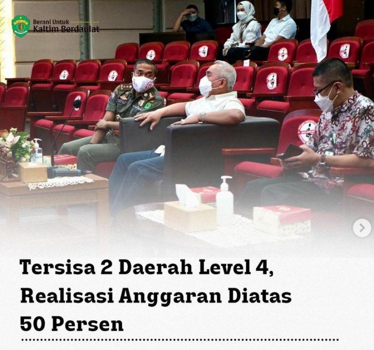 KALTIM TERSISA 2 DAERAH DENGAN STATUS LEVEL 4